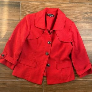 Red Blazer Suit Jacket